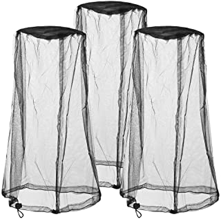 3 Packs Mosquito Head Nets Bug Nets Head Netting for No See Ums Insects Bugs Gnats Biting Midges from Any Outdoor Activiti...