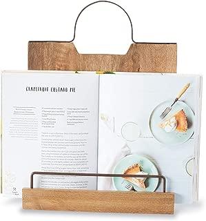 Mud Pie Bistro Wood Countertop Cookbook Holder, Brown