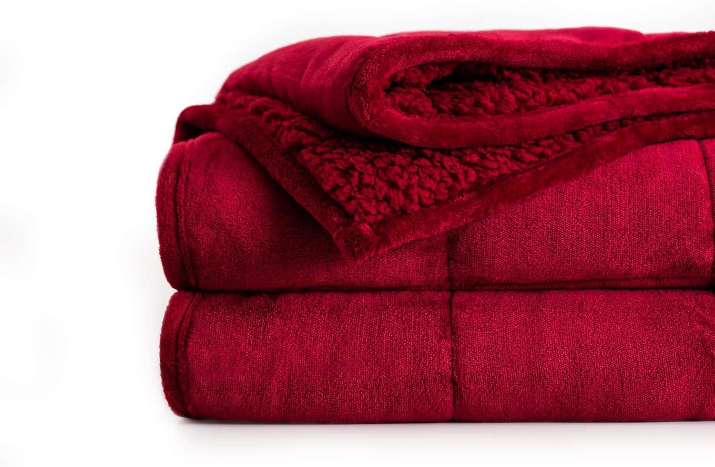 好評受付中 Uttermara Sherpa ショップ Fleece Weighted Blanket 12 Unico Adult lbs for