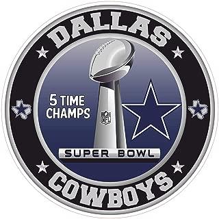 Dallas Cowboys Super Bowl Championship Sticker NFL Bootbal Truck Vinyl 6 Sizes Wall Art Logo Car Bumper Dallas Cowboy Wall Decal