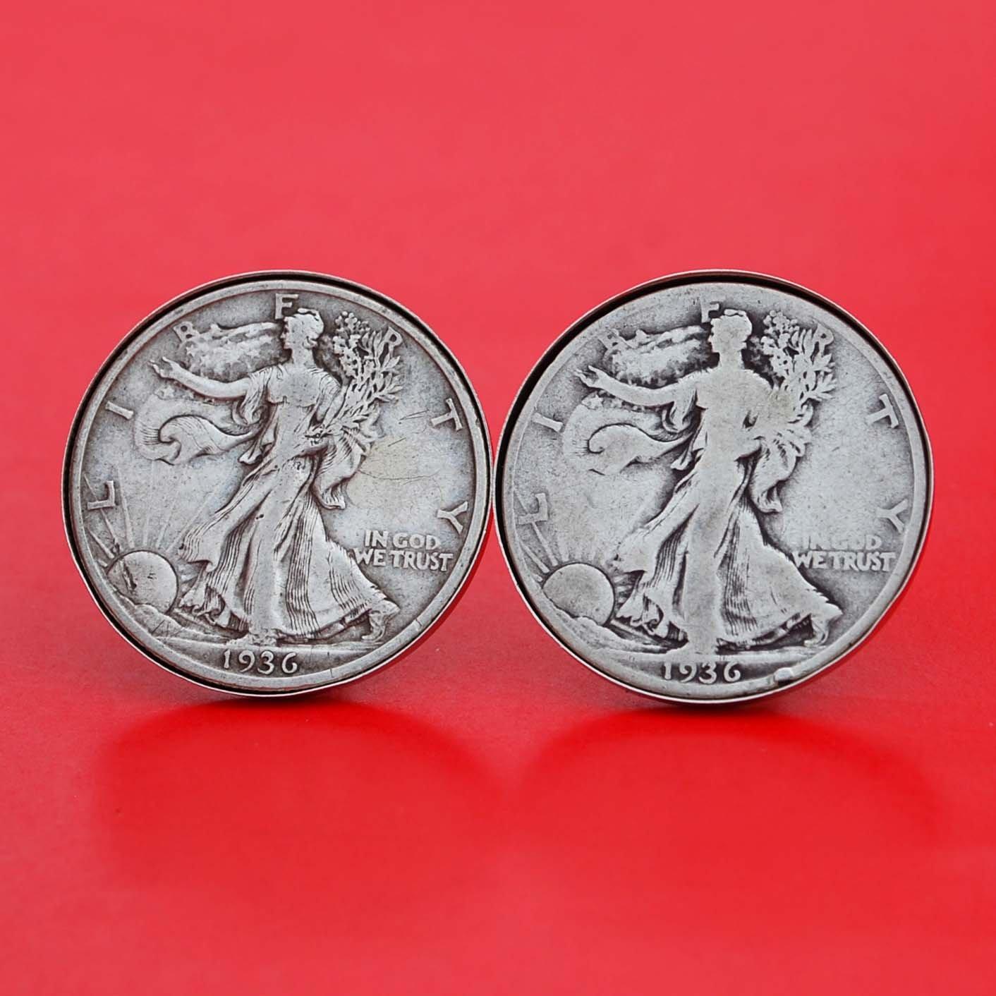 US 1936 Walking Liberty Save money Half Silver Dollar Max 58% OFF Cuffl 90% Coin