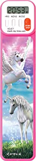 Mark-My-Time 3D Enchanted Horses Digital Bookmark and Reading Timer - Pink