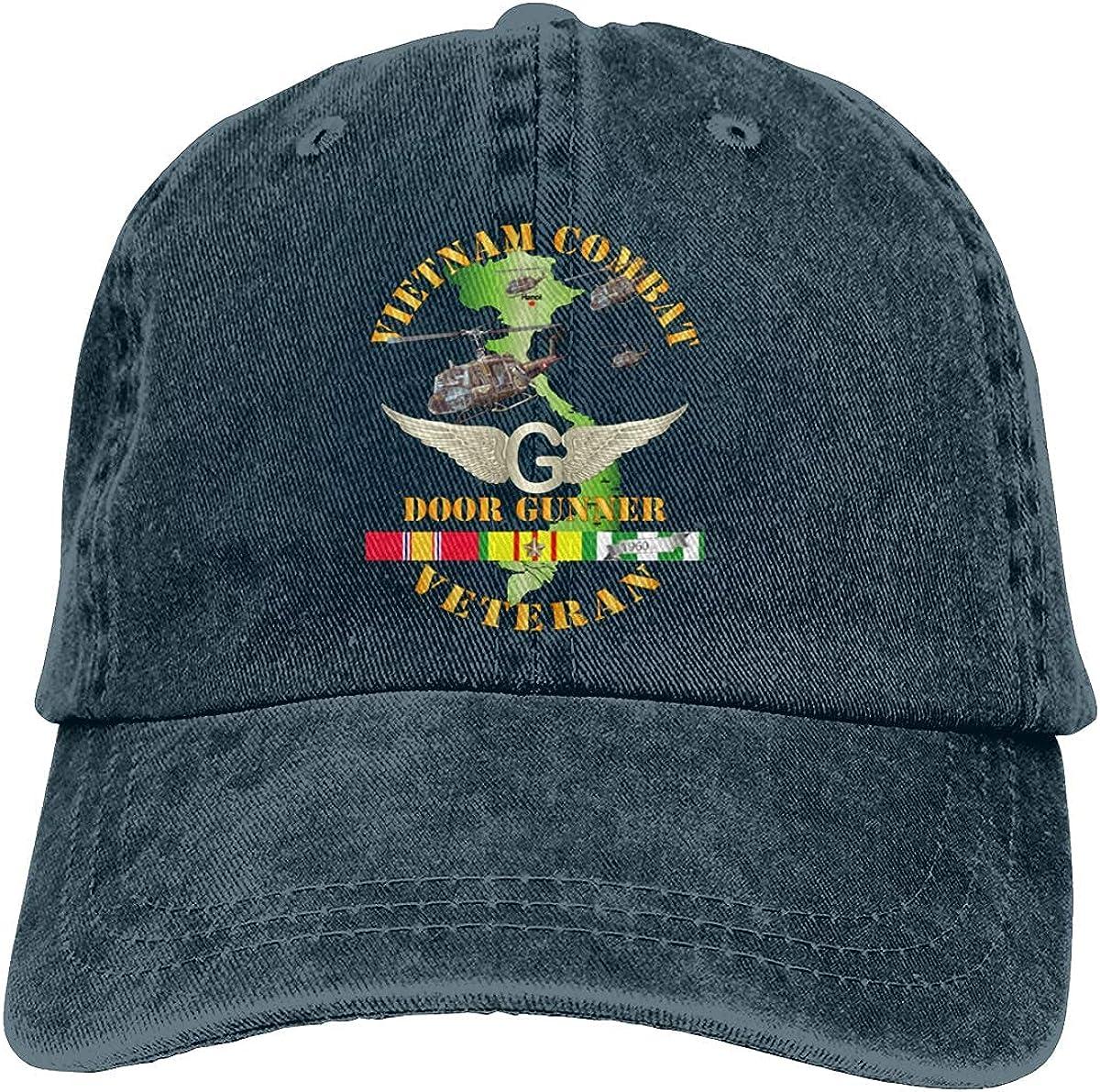 Vietnam Combat Avn Vet Door Gunner Air Assault Baseball Cap, Adjustable Size Dad Hat, Vintage Baseball Hats for Men Woman
