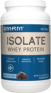 MRM - Whey Protein Isolate, Supports Muscle Building & Recovery, 100% All Natural (Chocolate Malt, 2.03 lbs)