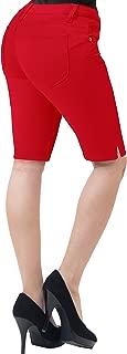 HyBrid & Company Womens 11.5 inch Inseam Butt Lift Stretch Bermuda Shorts