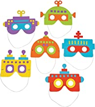 Fun Express Foam Robot Mask Craft Kit (Makes 12) Apparel Craft Kits