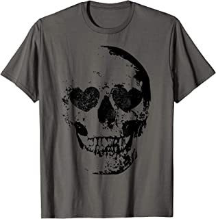 Skull With Heart Shaped Eyes T-Shirt