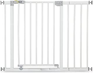 Hauck Open N Stop puerta de seguridad con extensión de 21cm, 75-80 cm, sin agujeros en la pared, combinable con Y-Spindel para barandillas, blanc