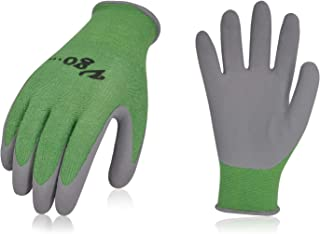 Vgo 2Pairs Bamboo Working Gloves for Gardening, Fishing,Restoration Work(Size L,Green,RB6026)
