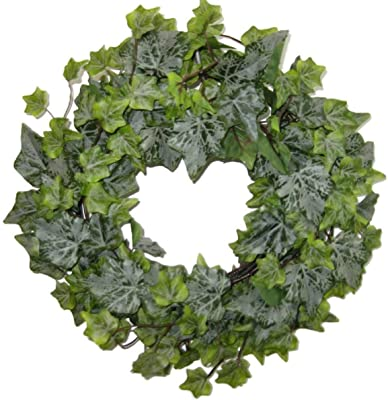 """14"""" Frosted Ivy Wreath with 220 Leaves"""
