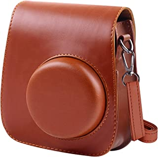 Katia - Funda para cámara Fujifilm Instax Mini 11 con correa de hombro ajustable, color marrón