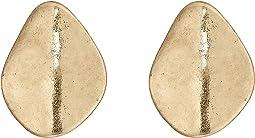 Large Metal Clip Stud Earrings