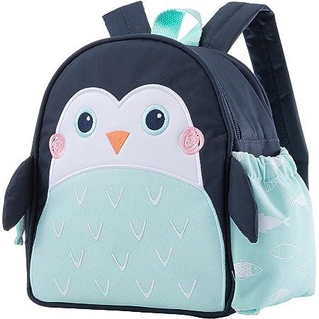Planet Buddies Sac à Dos pour Enfants, Sac à Dos Isotherme pour l'école, Sacs à Dos pour Enfants avec Porte-Bouteille d'eau et Porte-Nom, Pepper le Pingouin