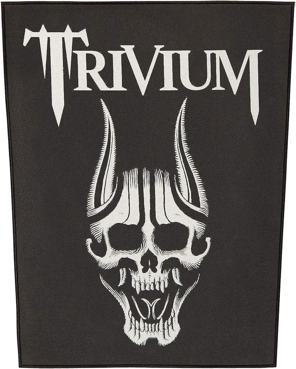 Trivium Men's Screaming Skull Back Japan's largest assortment Black Popular overseas Patch