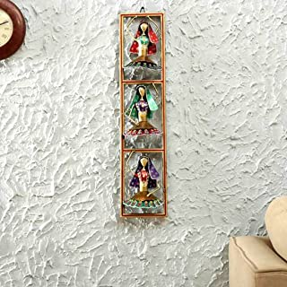 Royals Craft Home Décor's Multicolour Iron Metal Vertical Painted Dancing Doll Wall Art (Multicolour, Single)