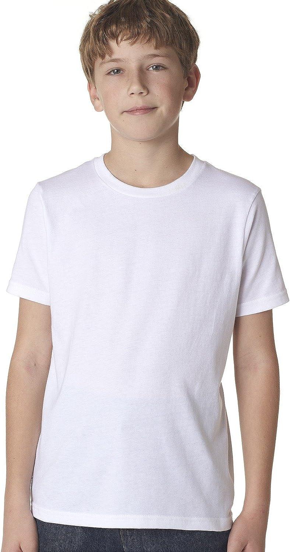 Next Level Big Boys' Comfort Fashion Rib Jersey Crew T-Shirt, M, WHITE