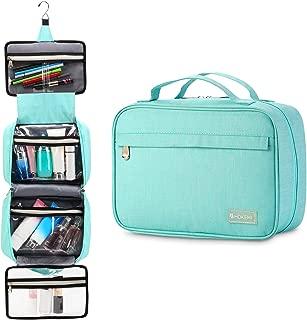 Travel Hanging Toiletry Bag Travel Kit Organizer for Men and Women (Light blue)