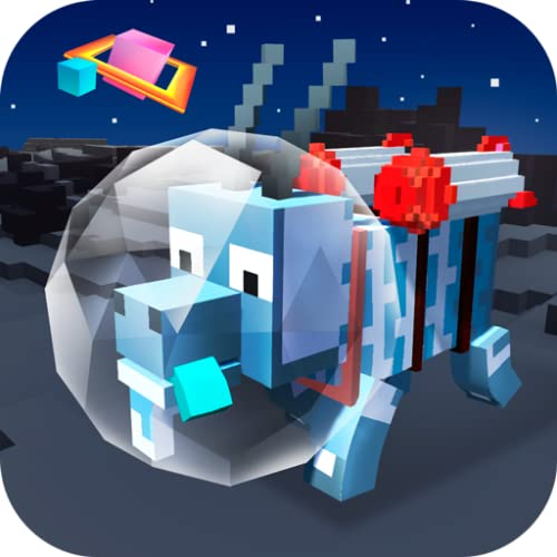 Cube Space Goat Sim 3D: Open Space Animal Simulator | UFO Games Cube Craft Blocky World Space Explorer