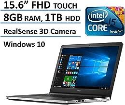 2016 Dell Inspiron 15 5000 FHD Touchscreen Flagship Laptop, RealSense 3D Camera, Intel Core i5-6200U, Full HD 1920 x 1080 Touch Display, 8GB Ram, 1TB HDD, DVD, Backlit Keyboard, Windows 10