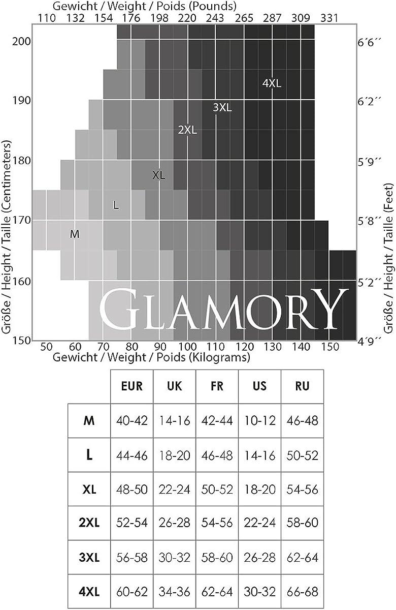 GLAMORY River 70 Denier women Striped Tights plus Size