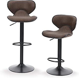 stedman leather counter stool