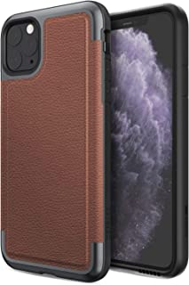 Defense Prime, iPhone 11 Pro Max Case - Military Grade Drop Tested, Anodized Aluminum Frame, Luxurious Back Panel, and Polycarbonate Protective Case for Apple iPhone 11 Pro Max, (Brown)