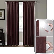 MAYTEX Certfied 100 Percent Blackout Smart Curtains Ultimate Light Blocker Julius Rod Pocket Single Panel Window Curtain, 50 inch x 63 inch, Grey