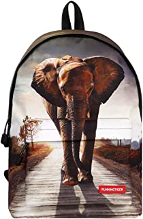 Runningtiger Unique 3D Animal Print Basic Multipurpose Backpacks For Teenagers Kids Schoolbags Travel Bags Laptop Backpacks (elephant print)