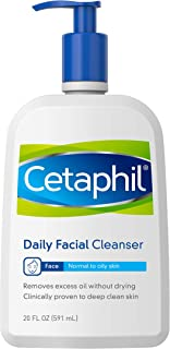 Face Wash by Cetaphil, Daily Facial Cleanser for Combination to Oily Sensitive Skin, 20 fl oz, Gentle Foaming Deep Clean Without Stripping