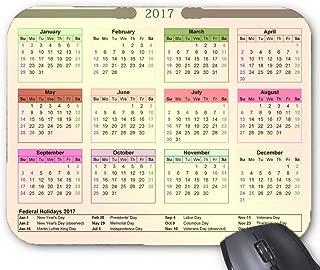 Mouse Mat 2017 Federal Holidays Calendar Printable Mouse Pad 11.8X9.8 Inxh