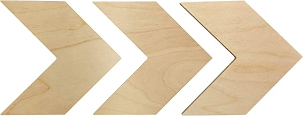 Wooden Chevron Arrows Wall Decor Unfinished Rustic