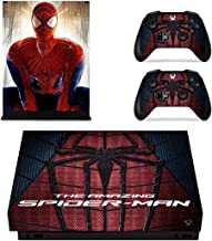 Adventure Games - XBOX ONE X - Amazing Spiderman - Vinyl Console Skin Decal Sticker + 2 Controller Skins Set