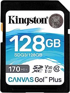 Kingston SDG3/128GB SD-kaart (128 GB SDXC Canvas Go Plus 170R C10 UHS-I U3 V30)