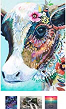 DIY 5D Diamond Painting Flower Cow, Gir Cow, Painting Full Drill Crystal Rhinestone Embroidery Pictures Arts Craft for Home Wall Decor Gift.11.8x15.7
