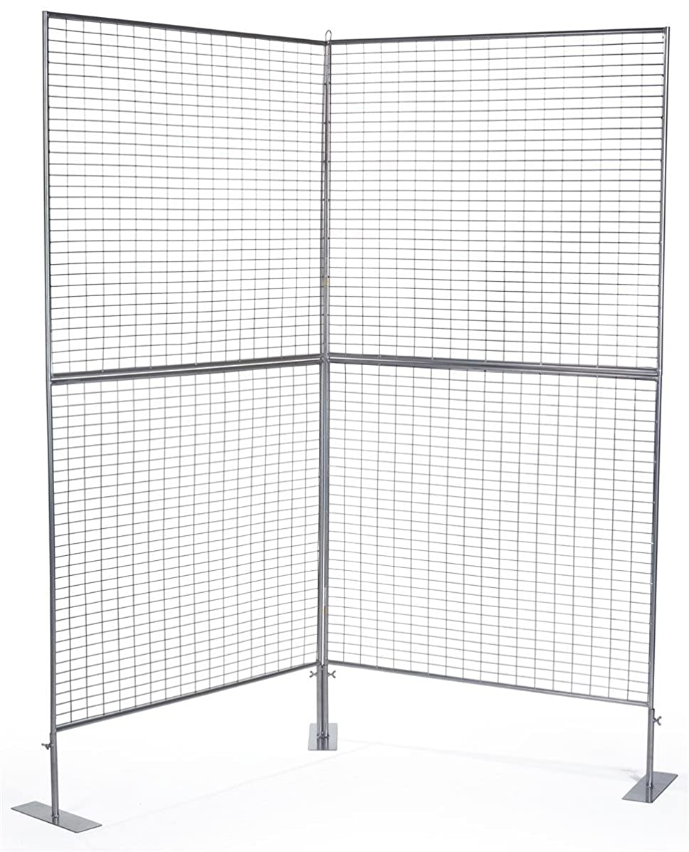 Displays2go 75 Inch 2-Panel Exhibit Displays, Iron Construction, Floor Standing, Double Sided – Silver Finish (AD2PNL)