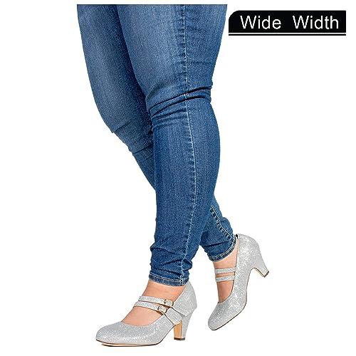 116a7a302f59d Women's Wide Width Silver Shoes Size 10: Amazon.com
