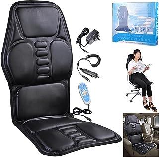 Yescom 9 Motors 8 Modes Back Massage Seat Pad Massage Cushion Neck Lumbar Massager Car Home Office Computer Chair