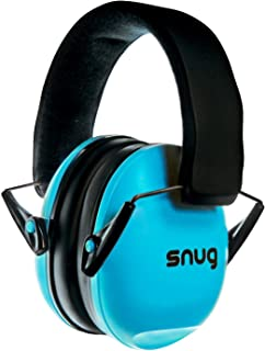 Snug Kids Earmuffs / Best Hearing Protectors – Adjustable Headband Ear Defenders For Children and Adults (Aqua Blue)