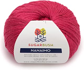 Sugar Bush Yarn 6480121203P10 Nanaimo Ball of Yarn, One Size, Raspberry