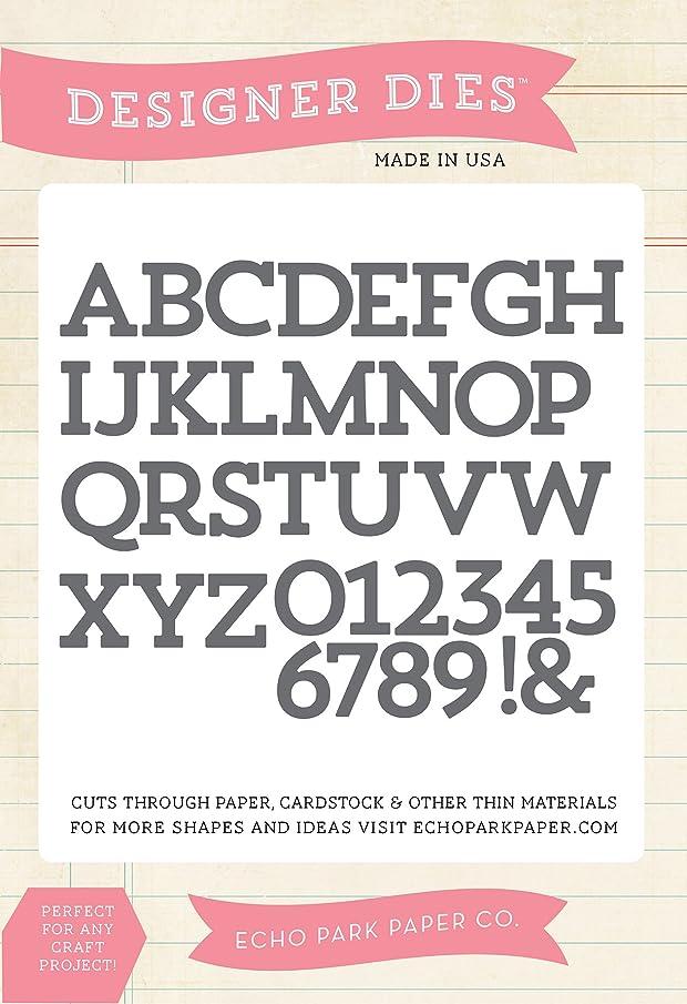 Echo Park Paper Company Block Alphabet Die Set