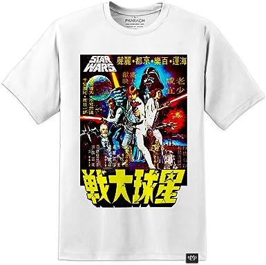 Camiseta con póster raro japonés de episodio 7 8 VIII de Star Wars, A New Hope, Kylo Ren Blu Ray