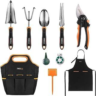 مجموعه ابزار باغ TACKLIFE ، ابزار باغ سنگین ضد زنگ با دسته لاستیکی ضد لغزش ، کیف دستی مخصوص ذخیره سازی ، وسایل دستی کاملاً ویژه در فضای باز ، هدیه باغ برای دوست یا خانواده - GGT5A
