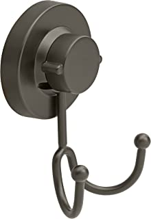 Gecko-Loc Heavy Duty Suction Cup Hooks Shower Accessory Stainless Steel - Black