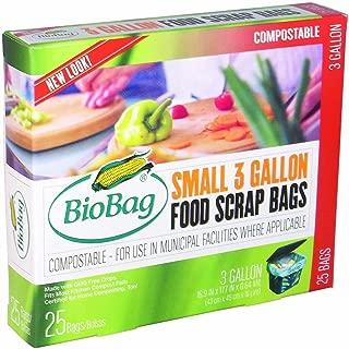 BioBag Premium Compostable Food Scrap Bags, 3 Gallon, 25 Count