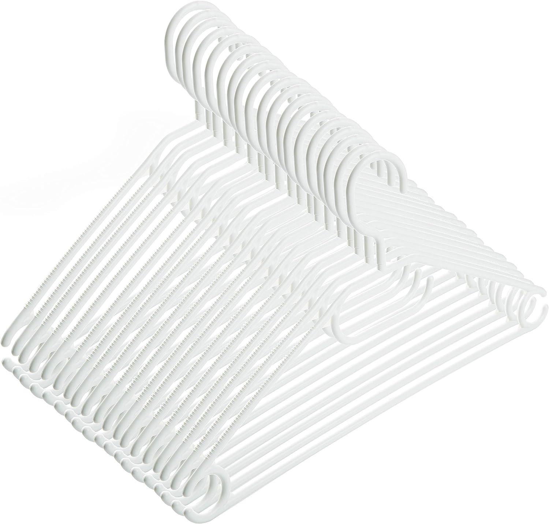 2friends 20 perchas blancas con gancho giratorio, de plástico, longitud aprox. 41 cm, fabricadas en la UE, respetuosas con el medio ambiente, ya que 100% material reciclado.