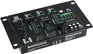 Pronomic DX-26 USB MKII - Mesa de mezclas para DJ (3 canales, función de cue, para todos los canales, reproductor MP3, 2 e...