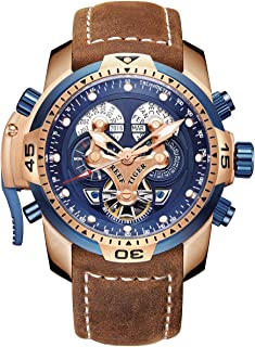 Best blue and rose gold tone masculine sport watch Reviews