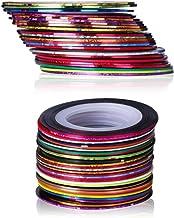 CLAVUZ 30Pcs Mixed Colors Rolls Striping Tape Line Nail Art Tips Nail Line Decoration Sticker