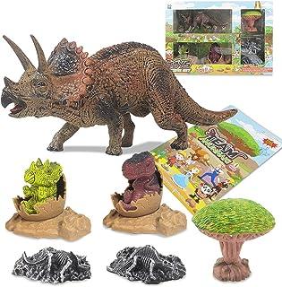 Dorakitten Kids Dinosaur Toy Set Funny Dinosaur Fossil Toy Dinosaur Scene Toys for Toddlers PVC(Polyvinyl chloride) plastic