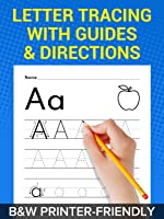Alphabet Letter Tracing and Writing Practice Worksheets for Kindergarten kids and Preschool / Pre-K Toddlers. Premium...